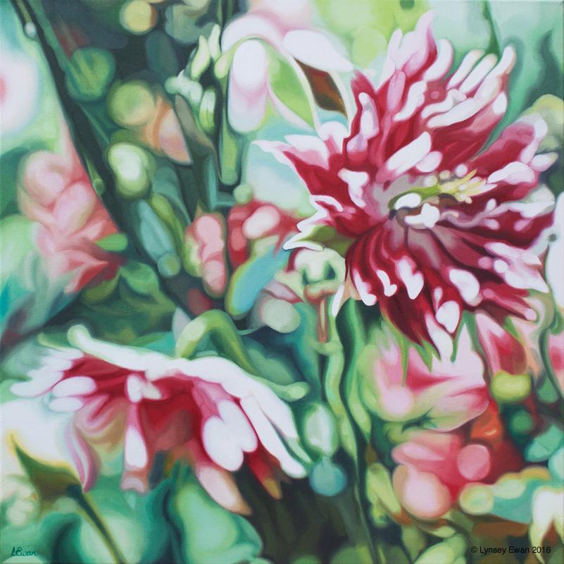 floral oil painting by Lynsey Ewan Artist