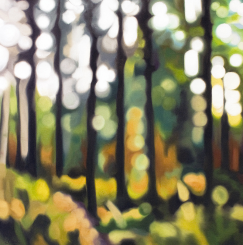 woodland oil painting by Lynsey Ewan Artist