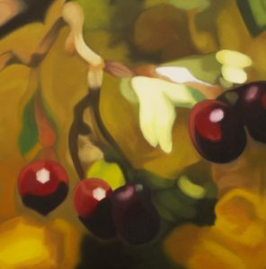 Red Berries painting