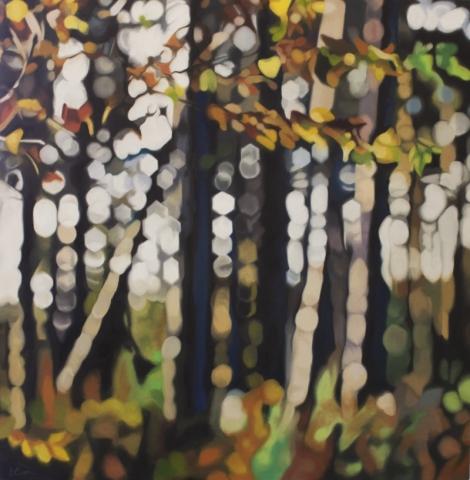 woodland oil painting by Lynsey Ewan Artist